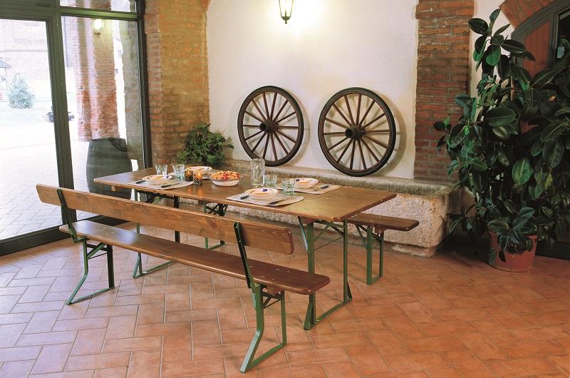 Set bavaria tavolo e panche in legno da pircher - Tavolo e panche da giardino ...