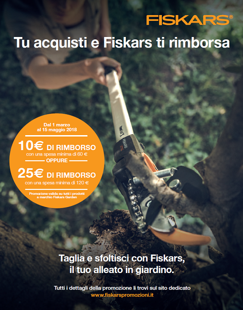 promozione cashback Fiskars
