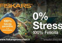campagna di Fiskars 0% stress 100% felicità