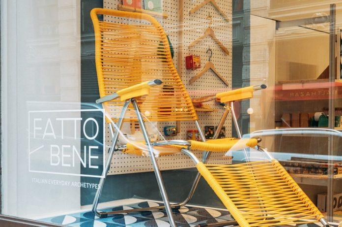 poltrona Spaghetti di Fiam al MoMA Design store