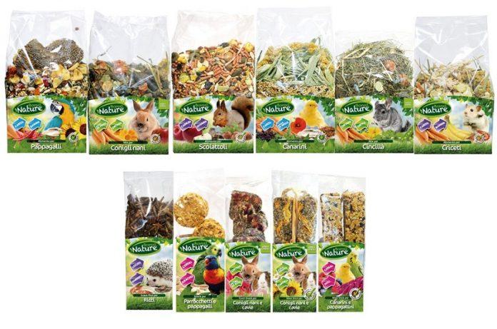 Alimenti naturali per i piccoli animali da compagnia